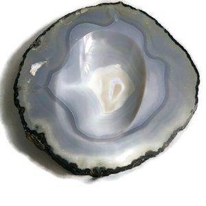 Geode Shallow Bowl Trinket Dis, Ashtray, Decorativ